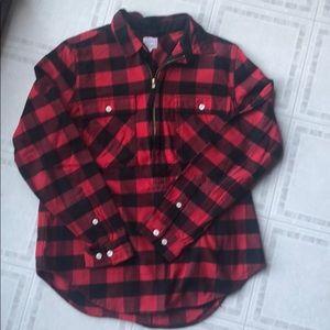 J. Crew red check buffalo tartan shirt jacket